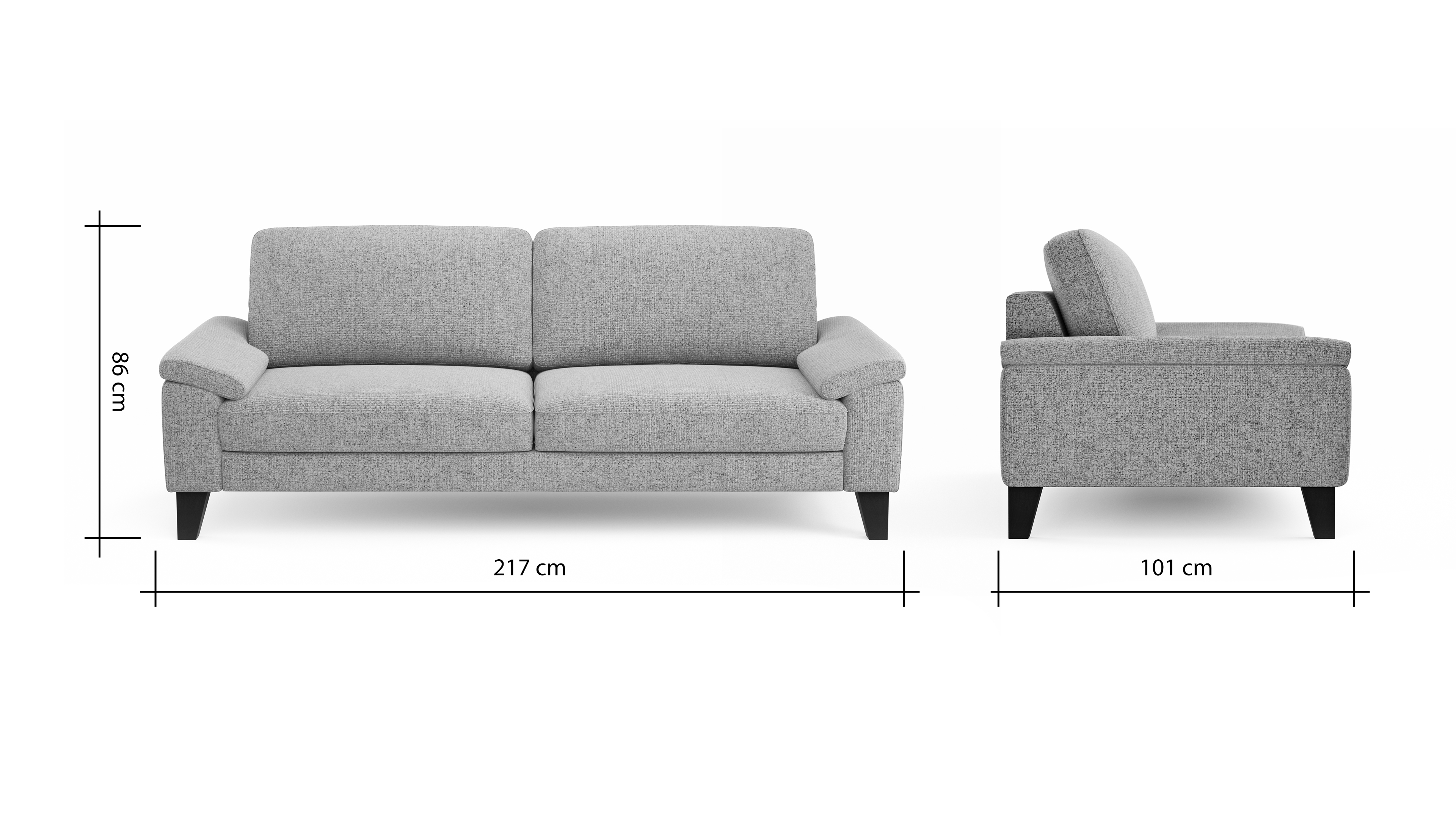 Global Family 3 Sitzer Sofa Oviedo BemFreisteller 102294 | Homepoet
