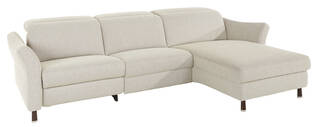 Global ecksofa rafaela 3 sitzer longchair webstoff ecru masterbild small | Homepoet