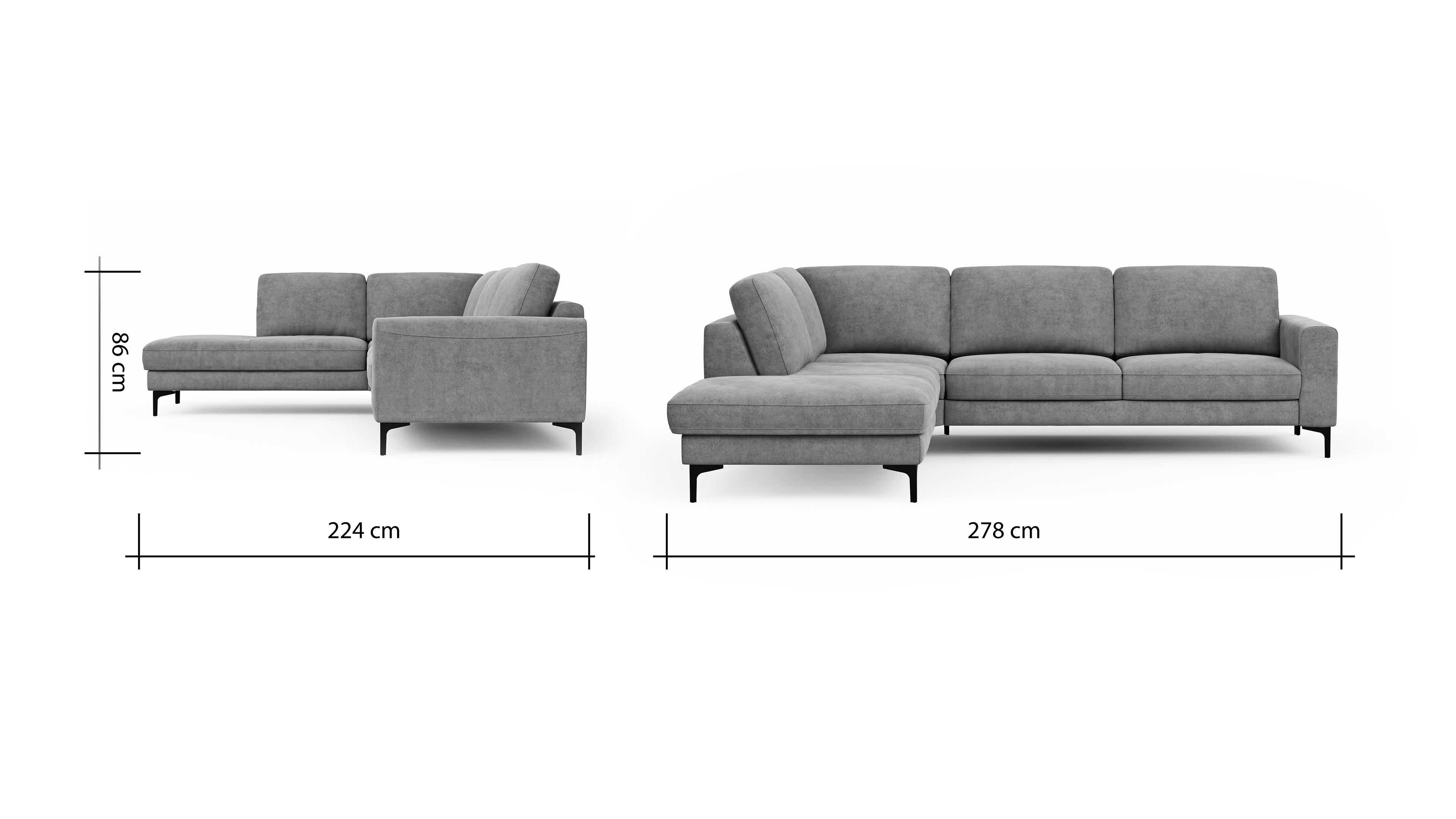 Global Family Ecksofa Oviedo BemFreisteller 102376 | Homepoet